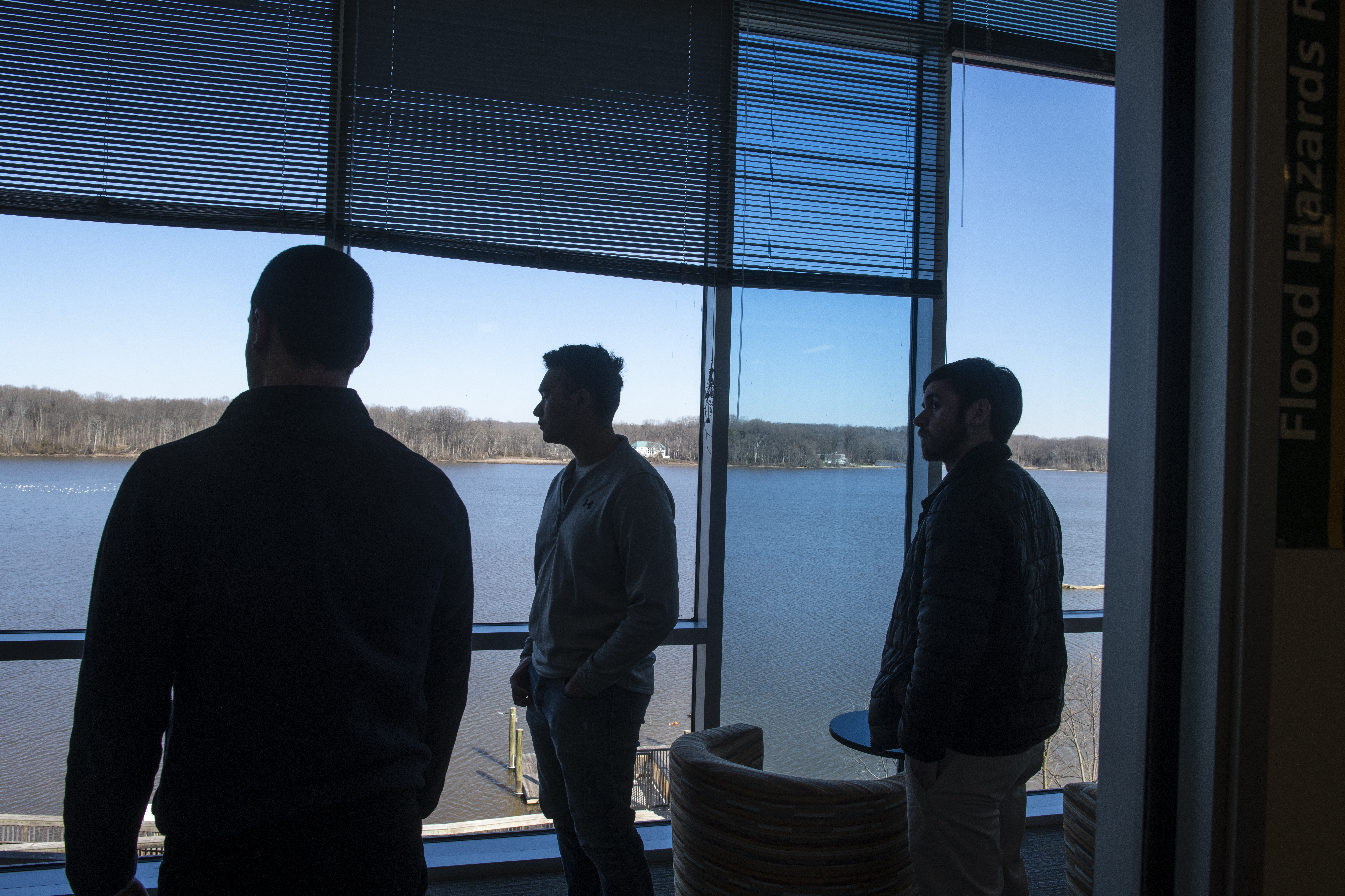 Students at the Flood Hazards Research Lab