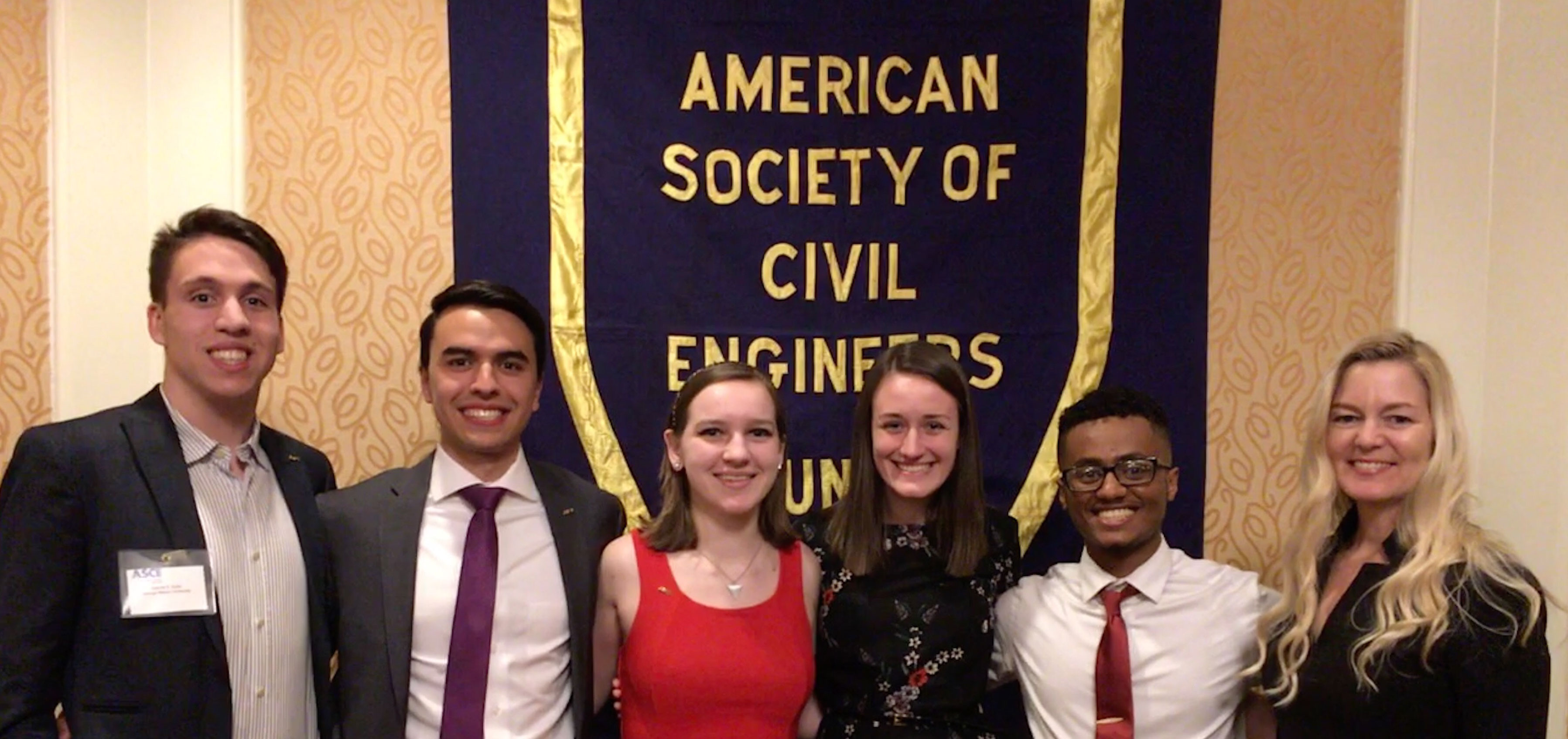Students at Annual ASCE Awards Banquet