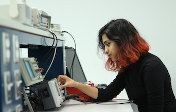 Electrical Engineering major and Honors College senior, Annam Khan.