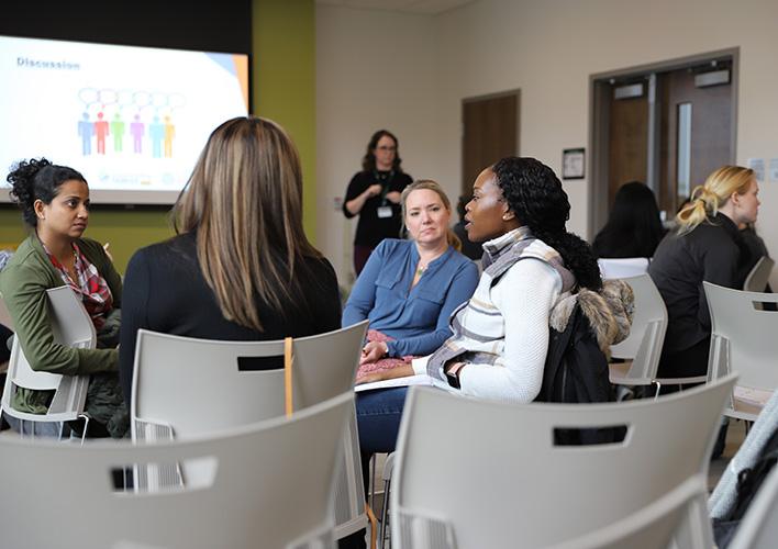 participants have group discussion