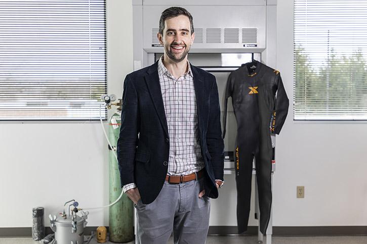 Jeff Moran engineering wetsuit Volgenau School of Engineering