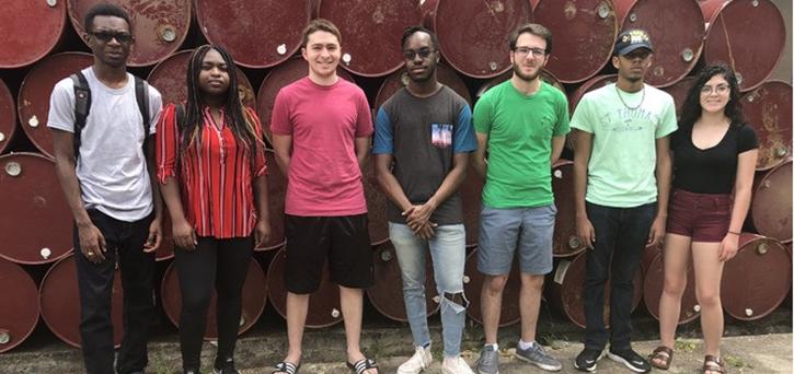 Mason Steel Pan students in Trinidad