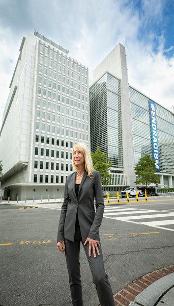 Elise Miller-Hooks at the World Bank Headquarters in Washington, D.C.