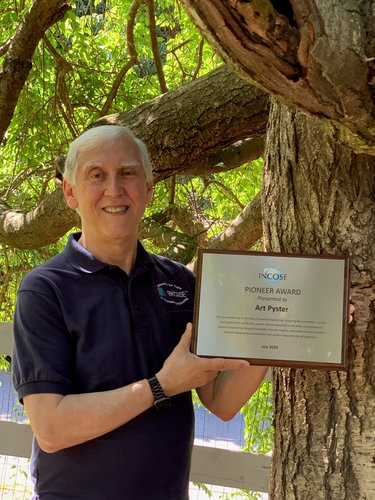 Mason Engineering's Art Pyster received the prestigious Pioneer Award from INCOSE-International Council on Systems Engineering for his work in the systems engineering field.
